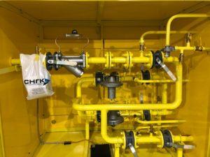 Установка газорегуляторная шкафная с узлом учета УГРШ-100Н(В)-2-ЭК, ШЗР