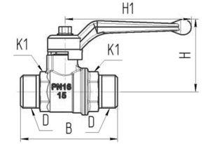 Кран шаровый газовый 11б27п