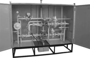 Установка газорегуляторная шкафная с узлом учета УГРШ(К)-50Н-2-ЭК