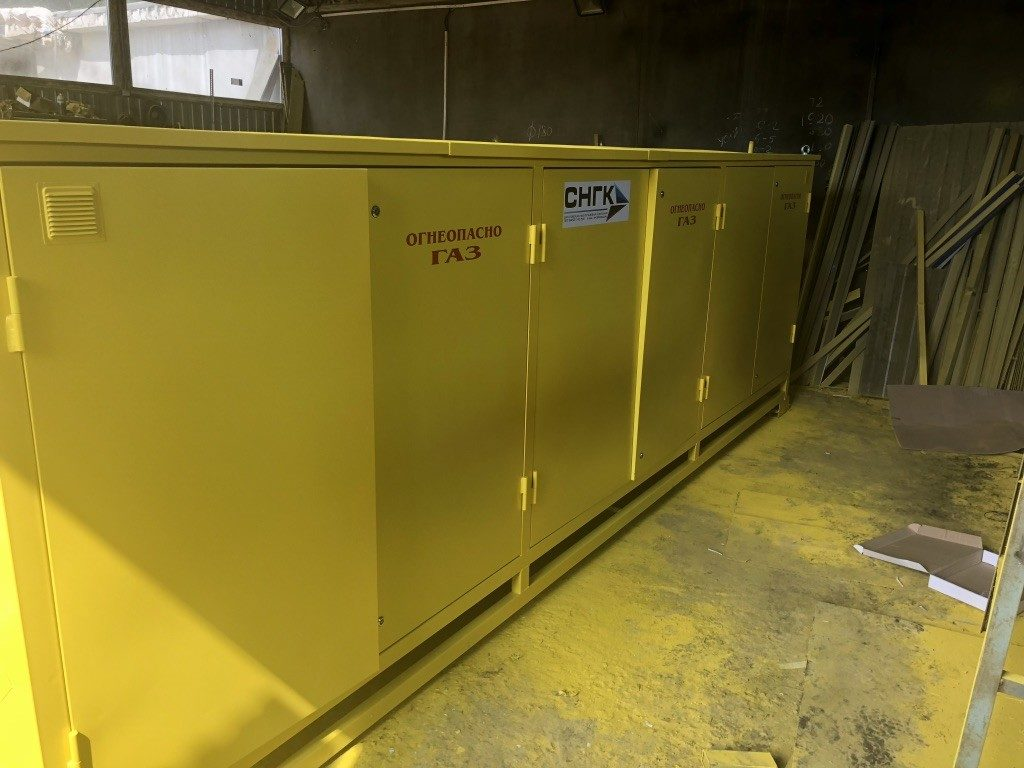 Газорегуляторные пункты шкафные с узлом