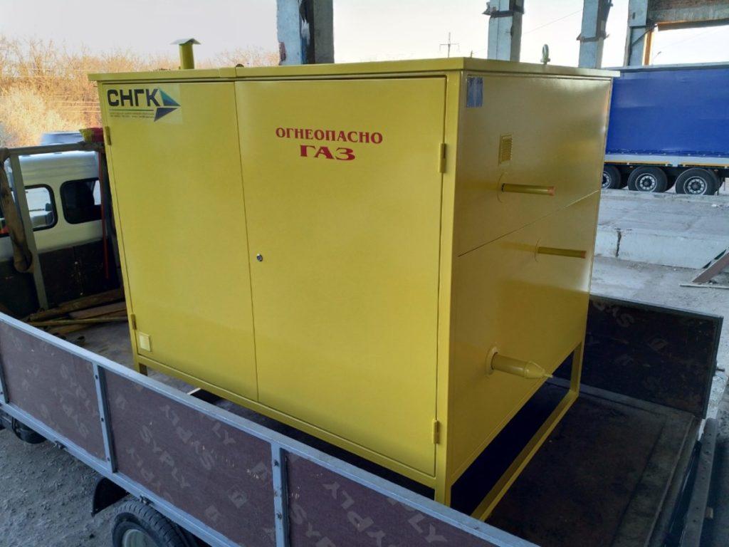 Газорегуляторный пункт шкафной с газовым обогревом ГСГО-100, ШЗР